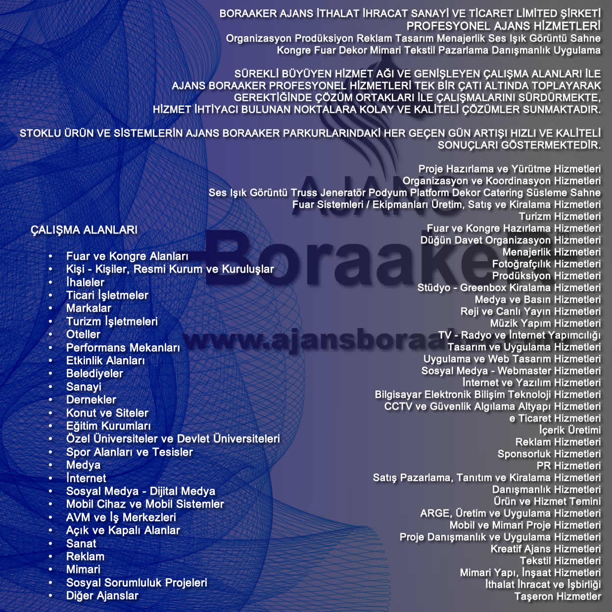 Ajans BoraakeR Hizmetleri